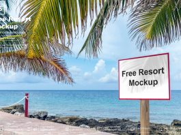 Free Resort Mockup PSD Template