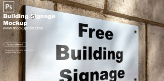 Free Building Signage Mockup PSD Template