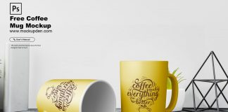 Free Coffee Mug Mockup PSD Template