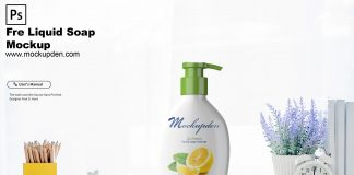 Free Liquid Soap Mockup PSD Template