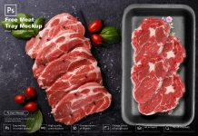 Free Meat Tray Mockup PSD Template