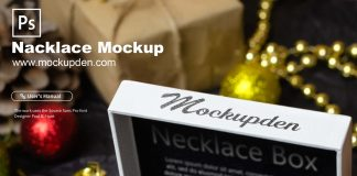 Free Nacklace Mockup PSD Template