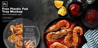 Free Plastic Food Tray Mockup PSD Template