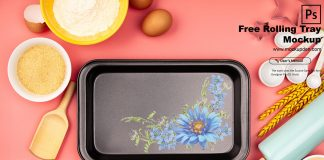 Free Rolling Tray Mockup PSD Template