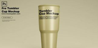 Free Tumbler Cup Mockup PSD Template