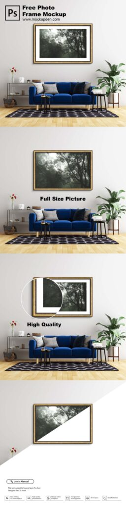 Free Large Photo Frame Mockup PSD Template