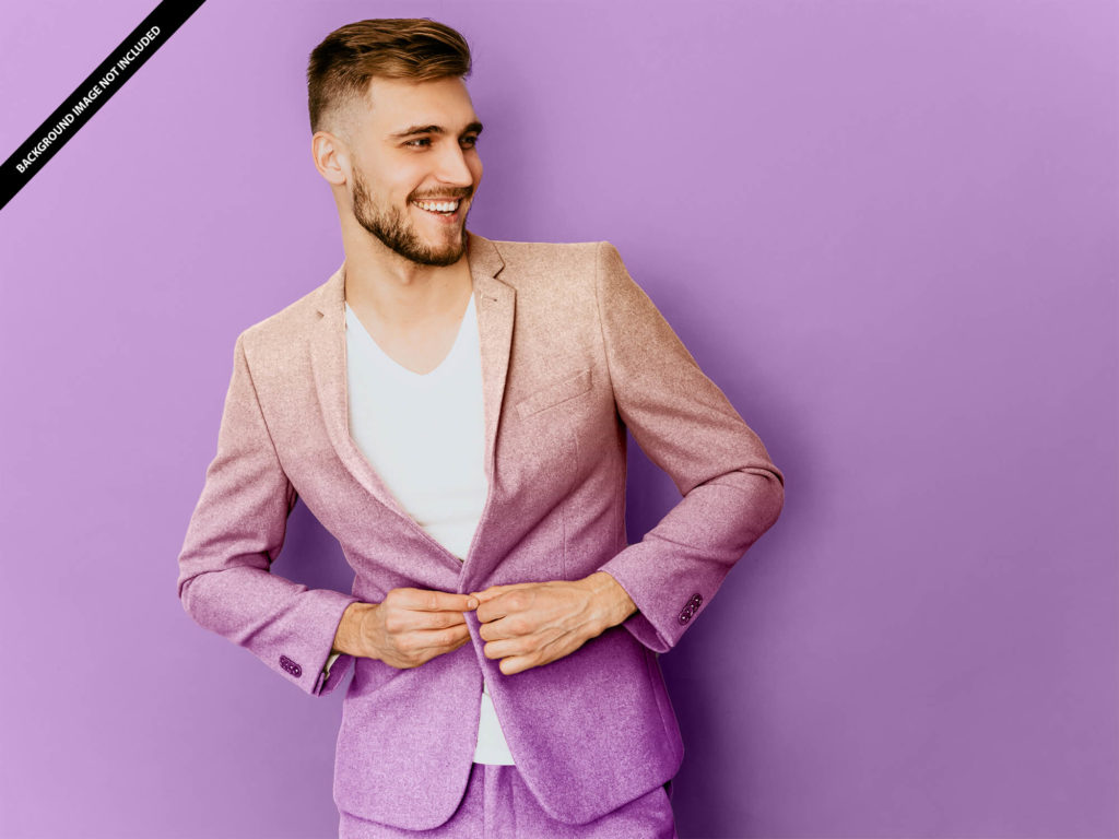 Free Suit Mockup PSD Template