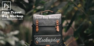 Free Travel Bag Mockup PSD Template