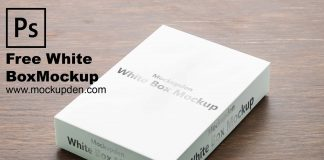 Free White Box Mockup PSD Template