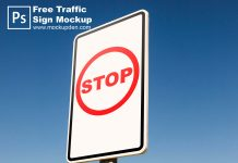 Free Traffic Sign Mockup PSD Template