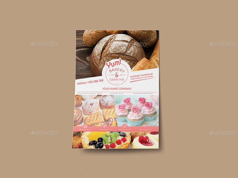 Bakery & Cupcake Shop - Flyer Template