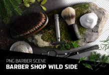 Barber shop Wild side - PSD scene