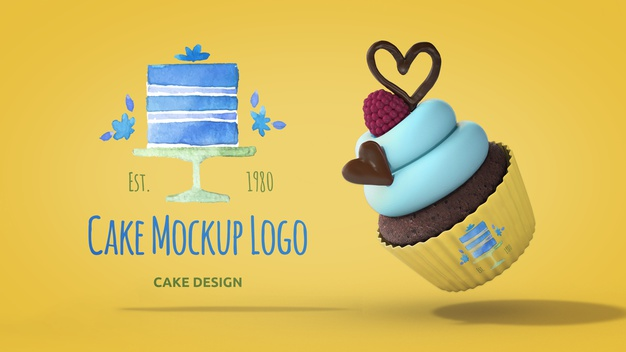 21+ Free Creative Cupcake Mockup PSD Template with Toppings 4