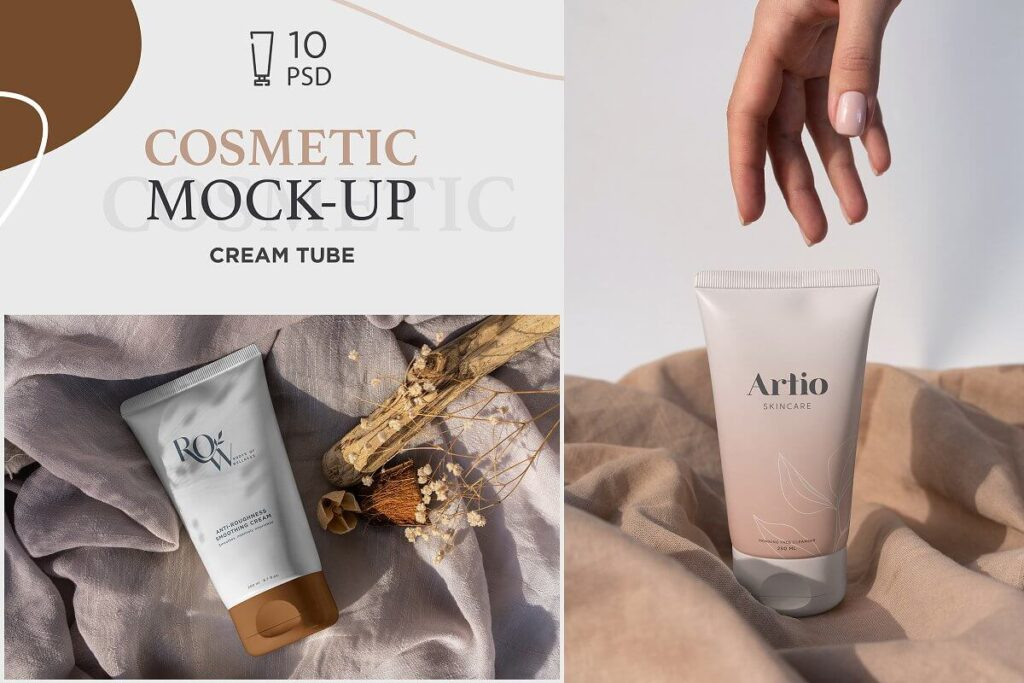 Cosmetic Tube Mock-Up's 10 PSD