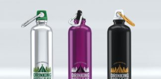 Drinking Bottle Flask Mock-Up