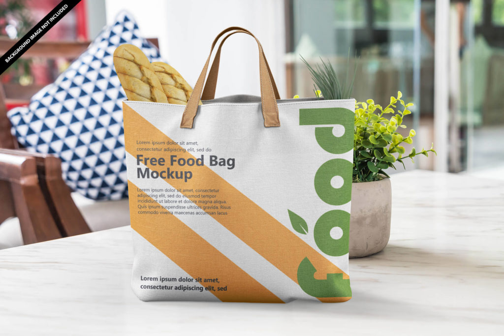 Free Food Carry Bag Mockup PSD Template