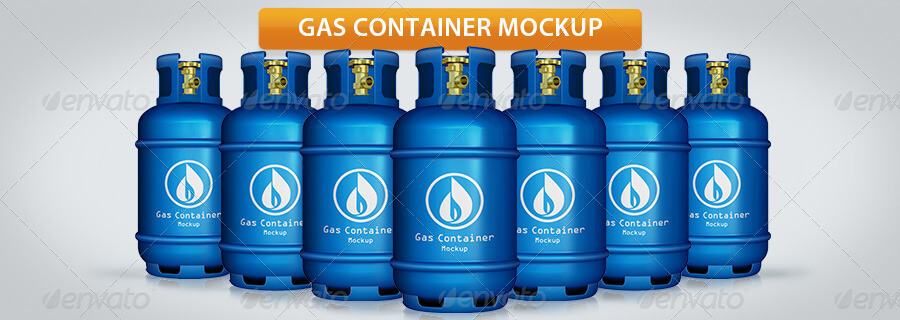 Gas Container Mockup