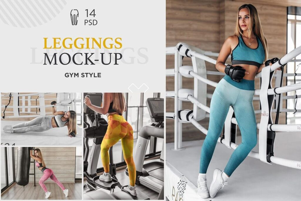 Leggings Mock-Up Gym Style