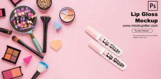 Free Lip Gloss Mockup PSD Template