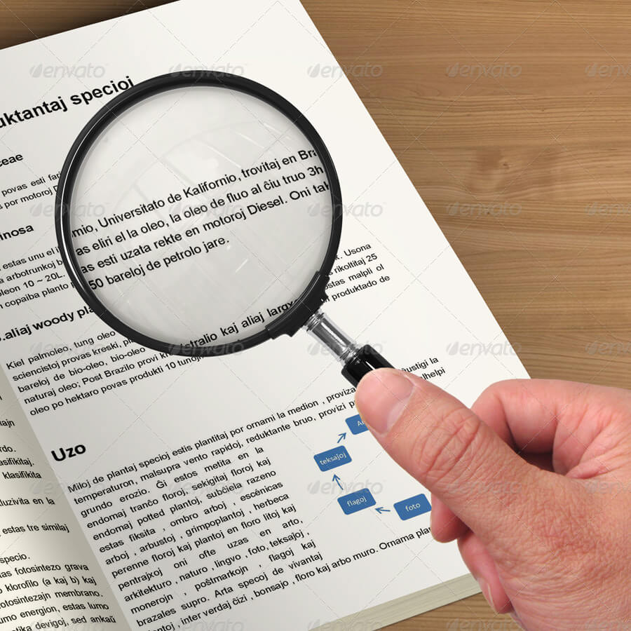 Magnifying Glass Mock-up