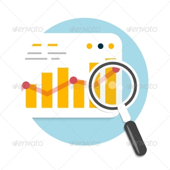 Magnifying Glass and Chart