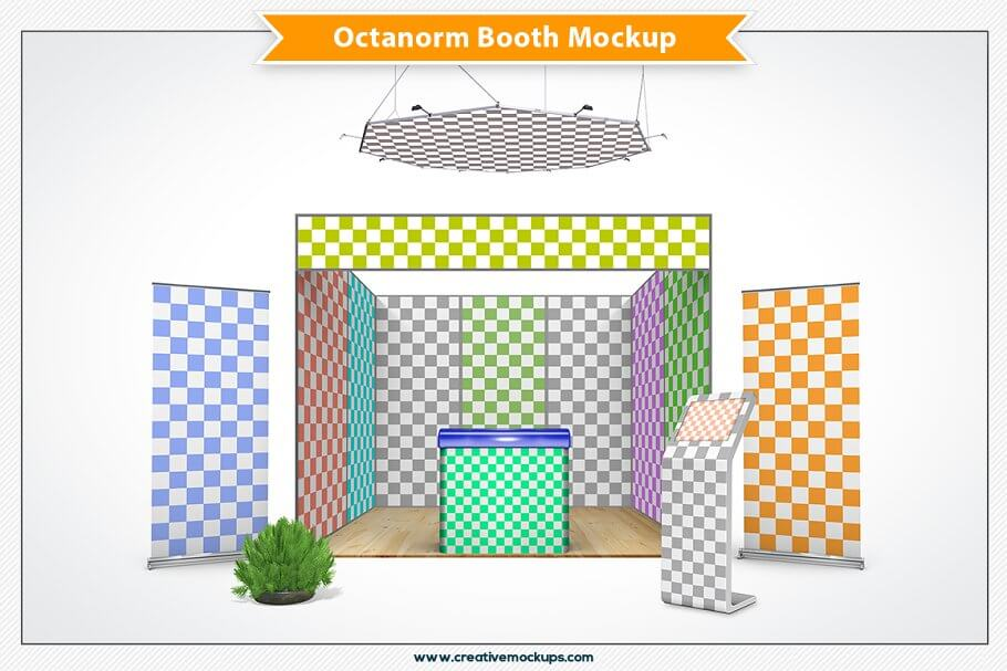 Octanorm Booth Mockup