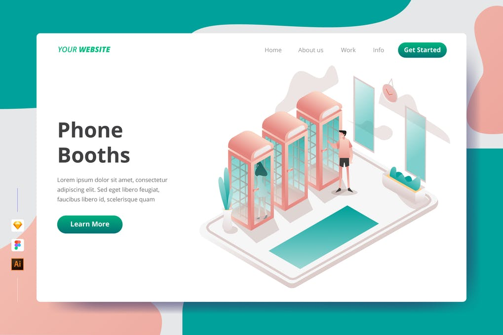 Phone Booths - Landing Page