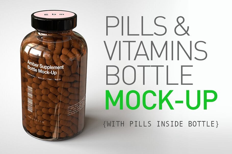 Pill Bottle | Vitamin Bottle Mock-Up