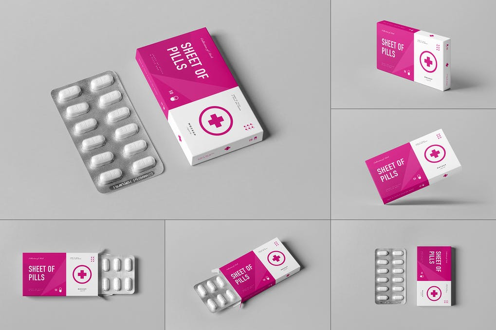 Pills Box Mock-up 3