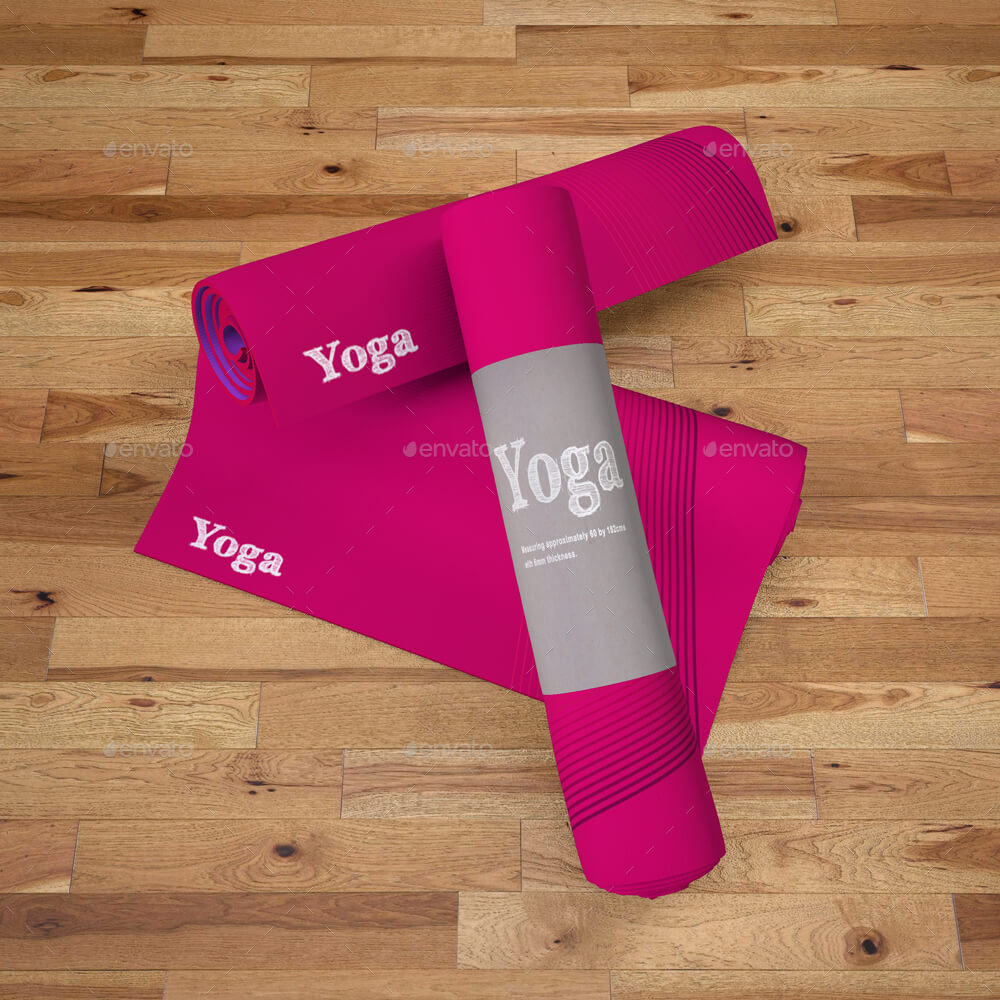 Printed Yoga Mat Exercise Rug Mock-Up