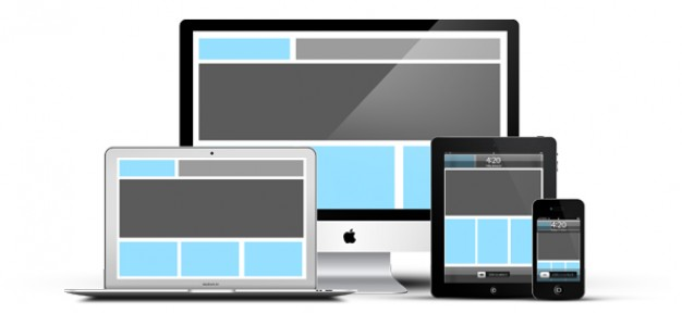 Responsive devices psd mockup Free Psd