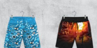 Shorts Boxer Briefs Mockup