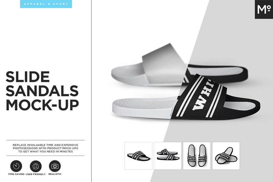 Slide Sandals Mock-up