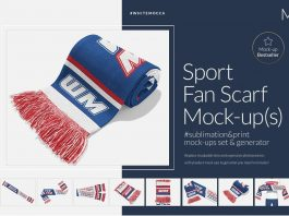 Sports Fan Scarf Mock-ups Generator