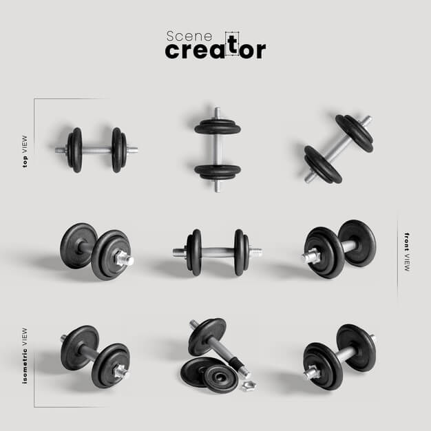 Weights for training mock-up Free Psd