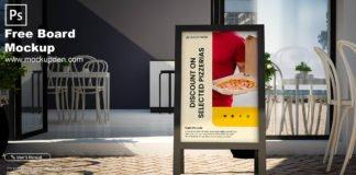 Free Board Mockup PSD Template