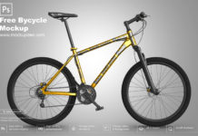 Free Bicycle Mockup PSD Template