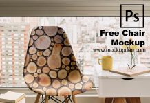 Free Chair Mockup PSD Template