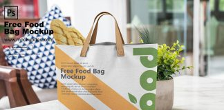 Free Food Bag Mockup PSD Template