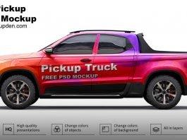 Free Pickup Truck Mockup PSD Template