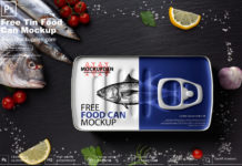 Free Food Tin Can Mockup PSD Template