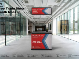 Trade Show Booth Mockup PSD Template