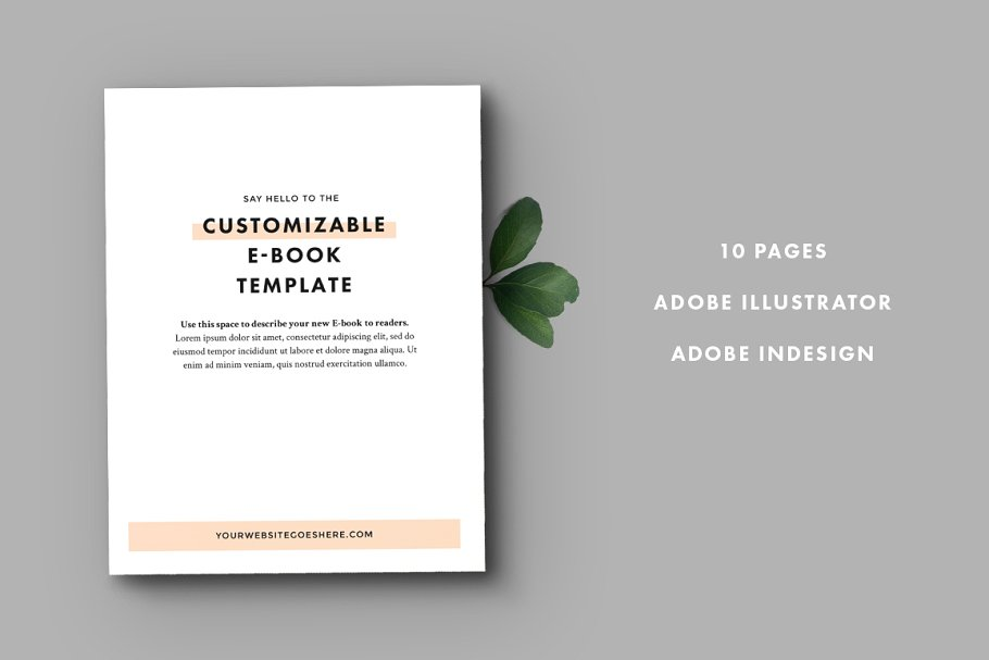 10 Pages eBook Design Template In AI And Adobe In Design Format
