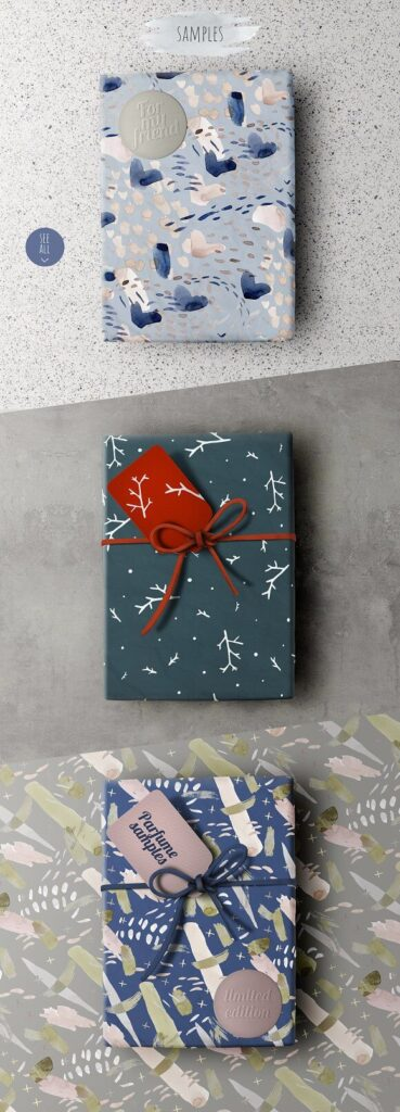 3 PSD Wrapping paper designs PSD