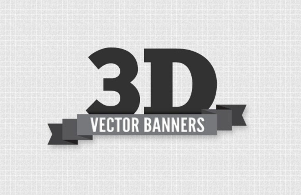 3D Web Banner Template Design: