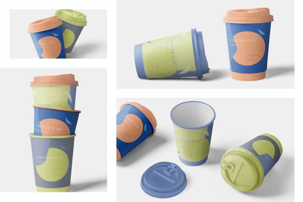 4 Awesome Coffee Cup Mockups