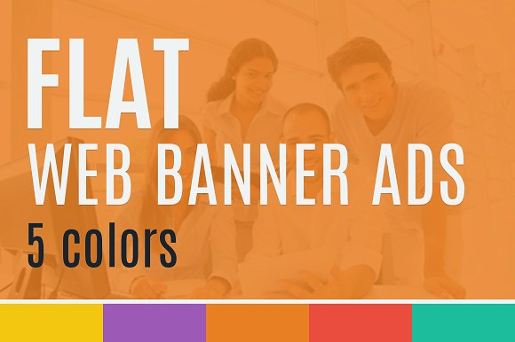 5 Colour Ads Web Banner Mockup