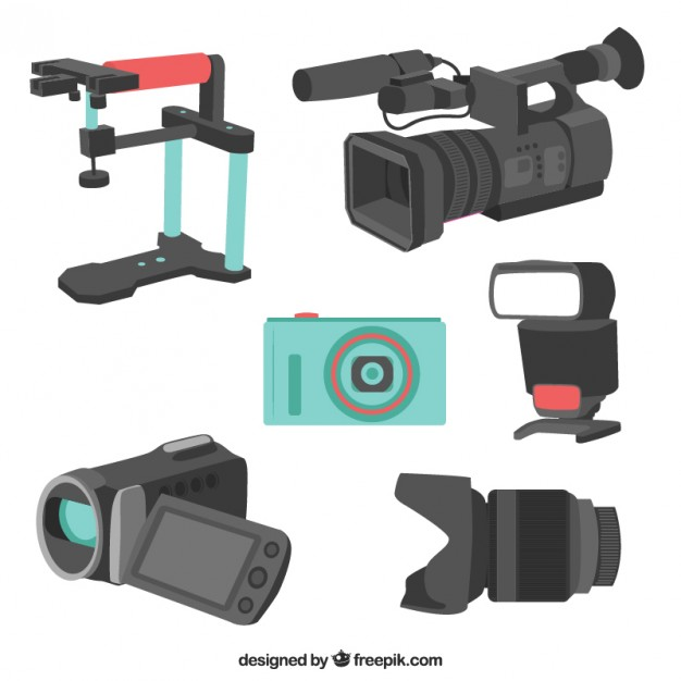 6 Different Designs Of Camera Vector.
