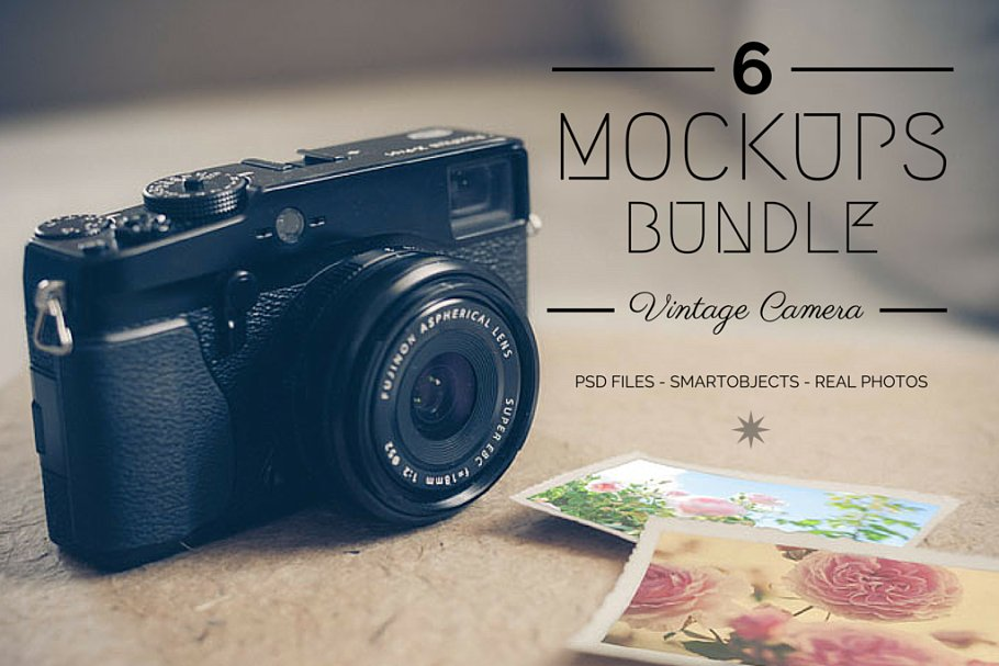 6 Vintage Camera Design Bundle Illustration