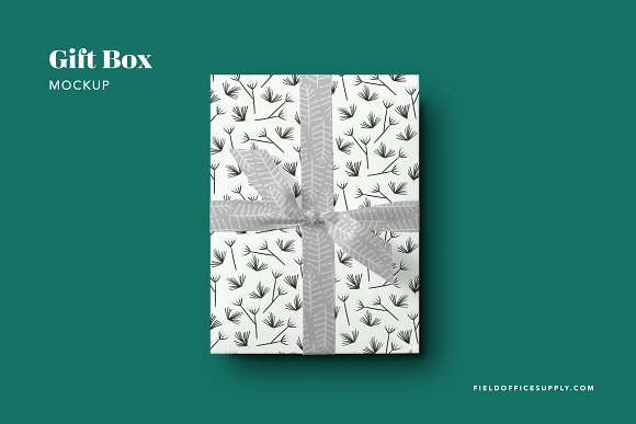 A Gift Box beautifully packed withWrapping Paper PSD